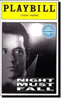 Night Must Fall Limited Edition Official Opening Night Playbill