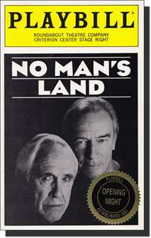 No Mans Land/Waiting for Godot Limited Edition Official Opening Night Playbill