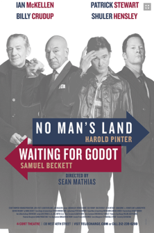 No Mans Land/Waiting for Godot in Repertory Broadway Poster