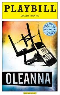 Oleanna Limited Edition Official Opening Night Playbill