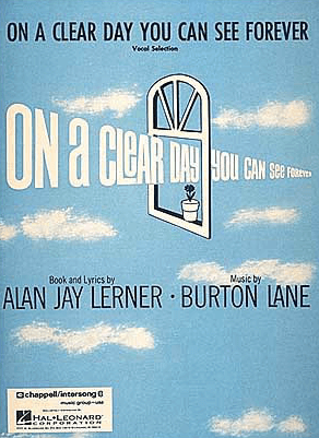 On A Clear Day Piano/Vocal Selections Songbook