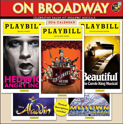 On Broadway: The 2016 Playbill Wall Calendar