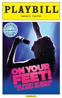 On Your Feet Limited Edition Official Opening Night Playbill