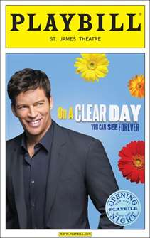 On a Clear Day Limited Edition Official Opening Night Playbill