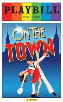 On the Town - June 2015 Playbill with Rainbow Pride Logo
