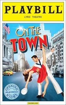 On the Town Limited Edition Official Opening Night Playbill (2014 Revival)