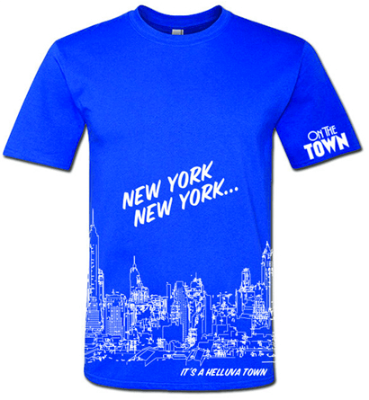 On the Town the Broadway Musical - New York New York Skyline T-Shirt