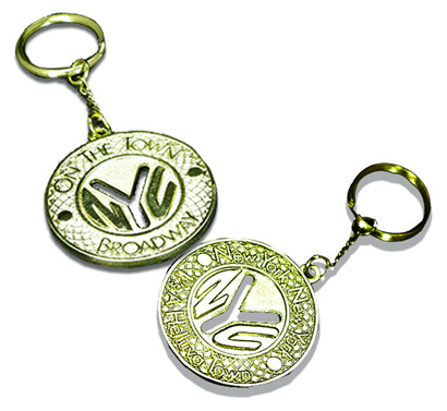 On the Town the Broadway Musical - Subway Token Logo Keychain