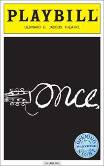 Once Limited Edition Official Opening Night Playbill