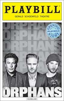 Orphans Limited Edition Official Opening Night Playbill