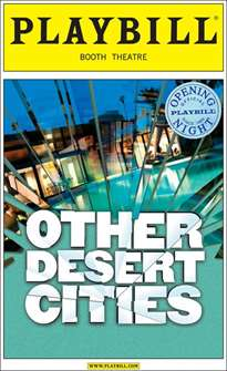 Other Desert Cities Limited Edition Official Opening Night Playbill