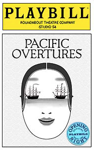 Pacific Overtures Limited Edition Official Opening Night Playbill