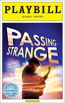 Passing Strange Limited Edition Official Opening Night Playbill