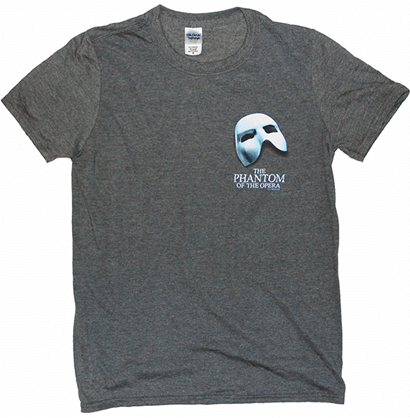 Phantom of the Opera the Broadway Musical - Charcoal Grey Logo T-Shirt