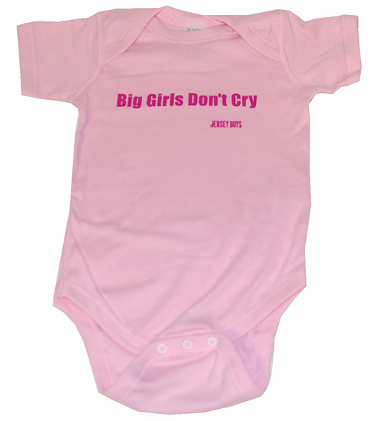 Jersey Boys the Broadway Musical - Big Girls Don%27t Cry Onesie