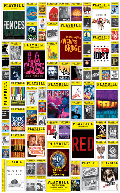 Playbill 2009-2010 Broadway Season Poster - 4th Annual Edition