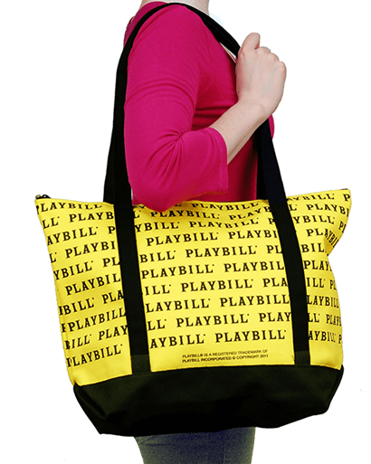 Playbill Zippered Tote Bag
