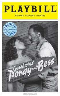 Porgy and Bess Limited Edition Official Opening Night Playbill