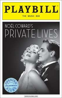 Private Lives Limited Edition Official Opening Night Playbill