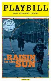 Raisin in the Sun Limited Edition Official Opening Night Playbill