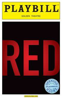 Red Limited Edition Official Opening Night Playbill