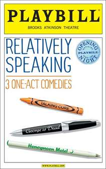 Relatively Speaking Limited Edition Official Opening Night Playbill