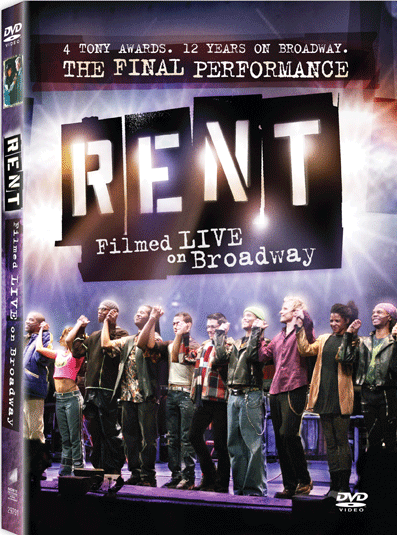 Rent Filmed Live on Broadway DVD