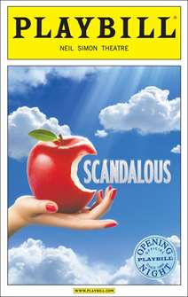 Scandalous Limited Edition Official Opening Night Playbill