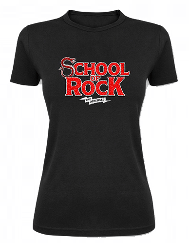 School of Rock The Broadway Musical - Ladies Glitter Logo Tee