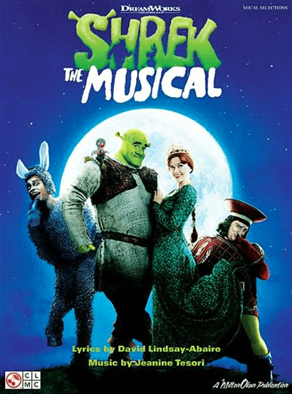 Shrek the Broadway Musical Piano/Vocal Selections Songbook