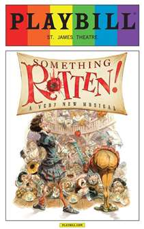 Something Rotten - June 2015 Playbill with Rainbow Pride Logo