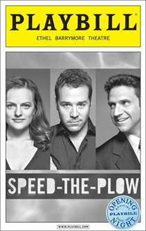 Speed the Plow Limited Edition Official Opening Night Playbill