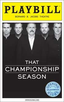 That Championship Season Limited Edition Official Opening Night Playbill