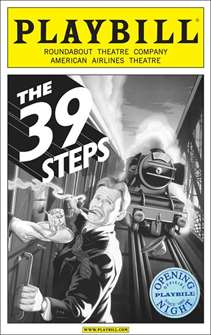 The 39 Steps Limited Edition Official Opening Night Playbill