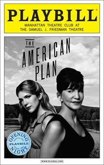 The American Plan Limited Edition Official Opening Night Playbill