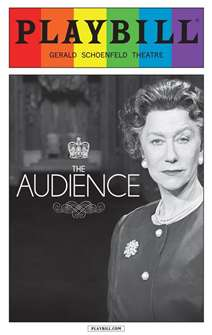 The Audience - June 2015 Playbill with Rainbow Pride Logo