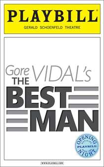 The Best Man Limited Edition Official Opening Night Playbill