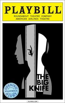 The Big Knife Limited Edition Opening Night Playbill