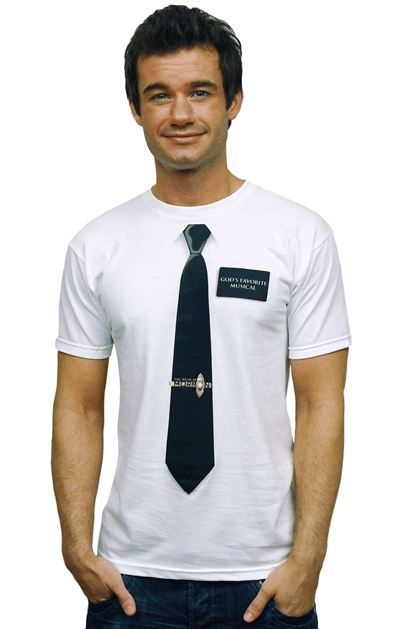 The Book of Mormon the Broadway Musical - Tie and Name Tag T-Shirt