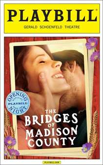 The Bridges of Madison County Official Opening Night Playbill