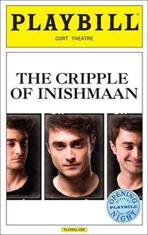 The Cripple of Inishmaan starring Daniel Radcliffe Limited Edition Official Opening Night Playbill