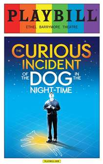 The Curious Incident of the Dog in the Night-Time - June 2015 Playbill with Rainbow Pride Logo