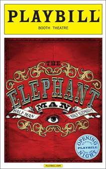 The Elephant Man Limited Edition Official Opening Night Playbill