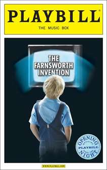 The Farnsworth Invention Limited Edition Official Opening Night Playbill