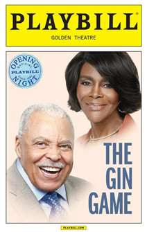 The Gin Game Limited Edition Official Opening Night Playbill