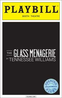The Glass Menagerie Official Opening Night Playbill (2013)