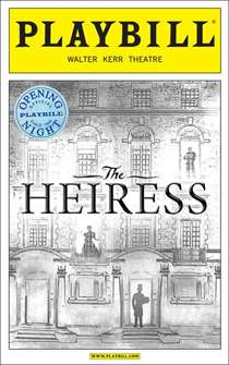 The Heiress Limited Edition Official Opening Night Playbill