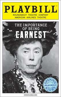 The Importance of Being Earnest Limited Edition Official Opening Night Playbill