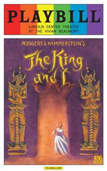 The King and I - June 2015 Playbill with Rainbow Pride Logo