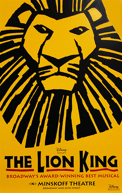 The Lion King Broadway Poster The Lion King